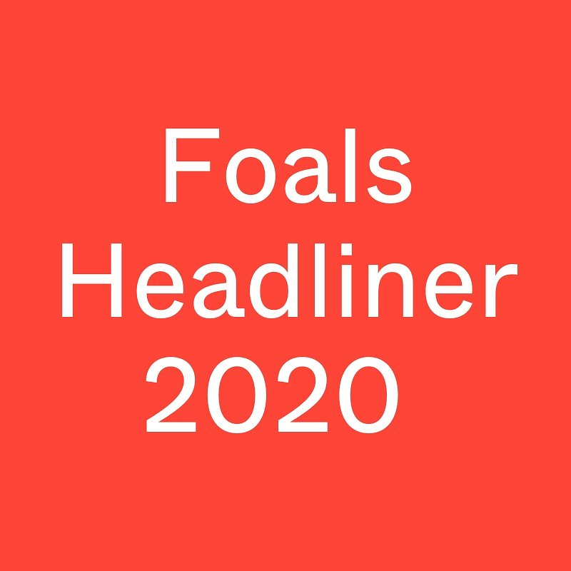 The headliner for 2020 is ready to go